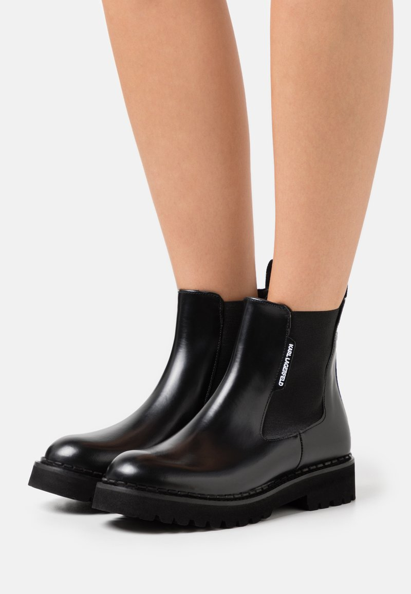 KARL LAGERFELD - TROUPE GORE BOOT  - Plateaustiefelette - black