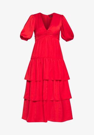 THE RUFFLE MIDI DRESS - Vestito estivo - carmine red