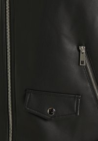 Missguided Petite - BIKER GILET - Waistcoat - black - 2