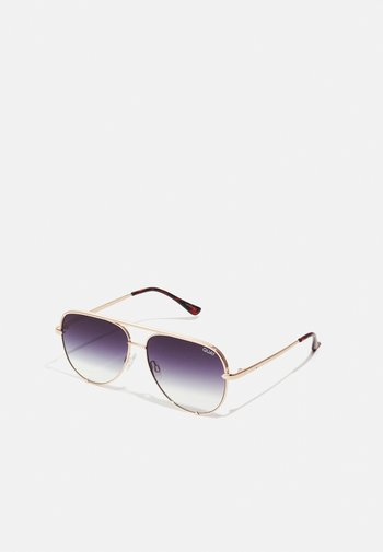 HIGH KEY MINI - Sunglasses - gold/black