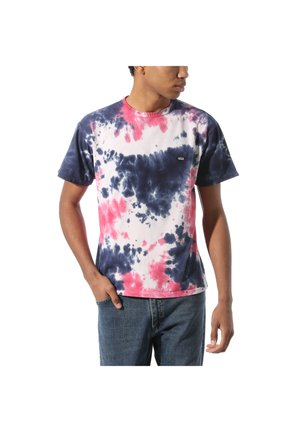 OFF THE WALL CLASSIC BURST TIE DYE - T-shirt print - vans cool pink tie dye