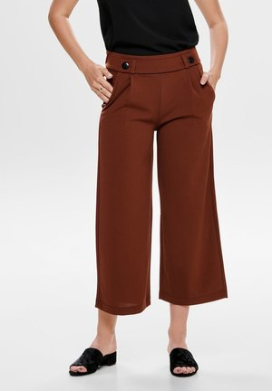 JDYGEGGO ANKLE PANT - Trousers - mottled brown