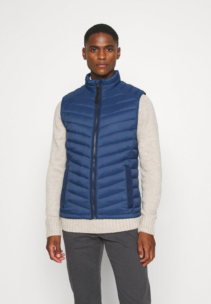 TOM TAILOR - Waistcoat - dark denim blue