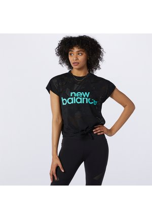 ACHIEVER COLLIDE OPEN TEE - T-shirt med print - black