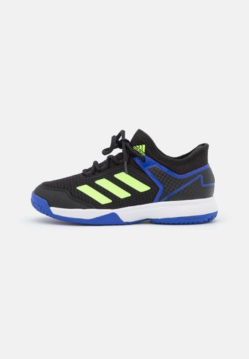 UBERSONIC 4 UNISEX - Multicourt tennis shoes - core black/signal green/sonic ink