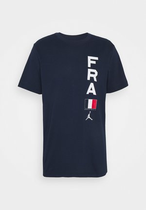 FRANCE DRY TEE - Print T-shirt - college navy
