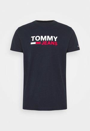 CORP LOGO TEE - Camiseta estampada - twilight navy