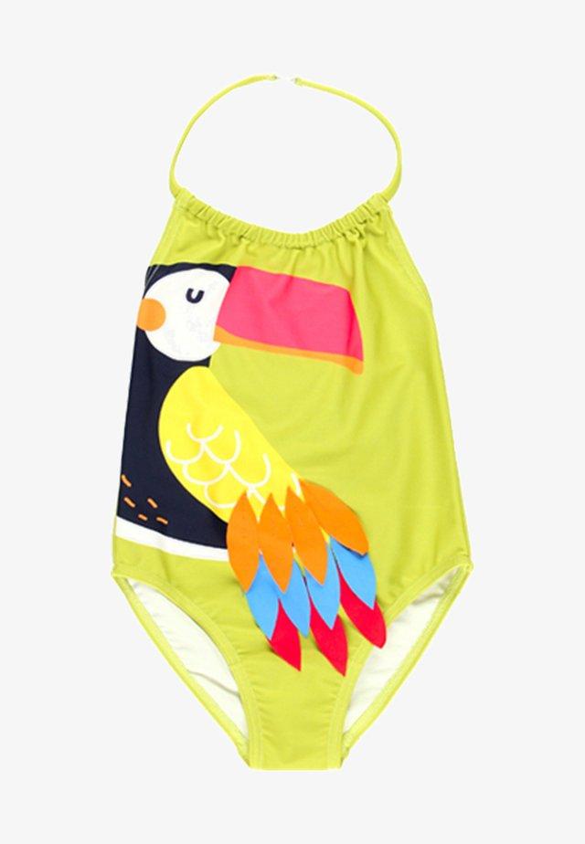 Swimsuit - green parrot