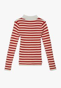 Scotch & Soda - HIGH NECK PULL - Stickad tröja - red/off white - 1