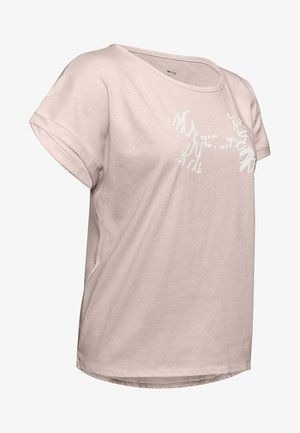T-shirts med print - apex pink light heather