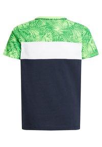 WE Fashion - MET COLOURBLOCK - Print T-shirt - green - 4