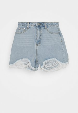 EXTREME FRAY RIOT - Jeansshorts - light blue