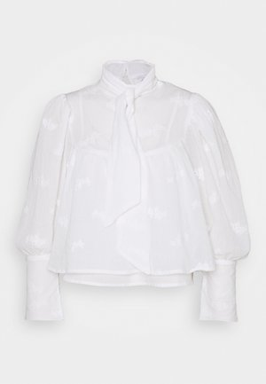 TIE NECK VOLUME SLEEVE BLOUSE - Blouse - white