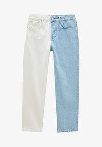 PULL&BEAR - MIT COLOUR BLOCK - Straight leg -farkut - white - 6