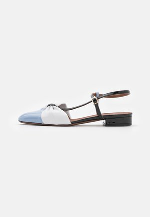 Classic heels - sky/white/black vernice