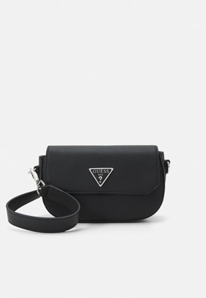 AMBROSE MINI CROSSBODY FLAP - Across body bag - black