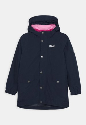 ICY FALLS 3IN1 JACKET GIRLS - Hardshellová bunda - midnight blue