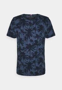 TEE - Print T-shirt - faded indigo