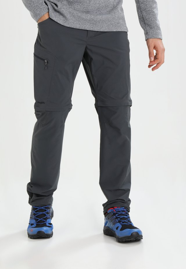 LITE ZIP OFF PANT MEN - Ulkohousut - magnetite