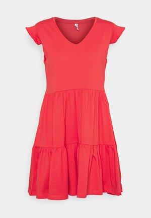 ONLMAY LIFE FRILL DRESS - Jerseykjole - cayenne