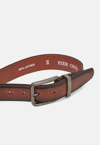 Pier One - LEATHER - Cintura - brown - 2