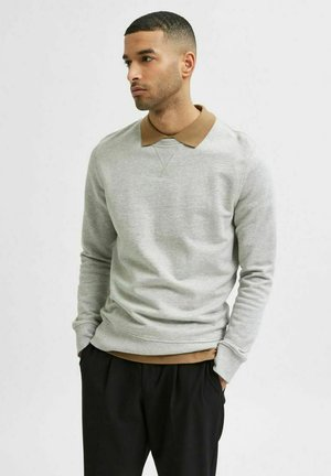 SLHJASON CREW NECK - Sweatshirt - mottled light grey