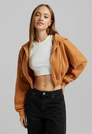 PLÜSCH - Zip-up sweatshirt - light brown