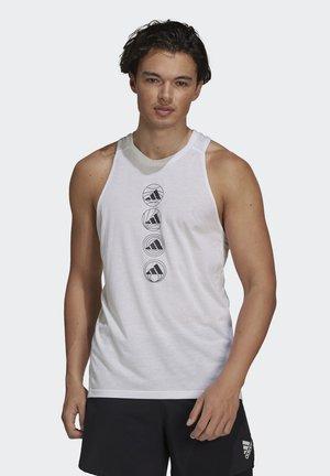 RUN LOGO TANK M - T-shirt de sport - white