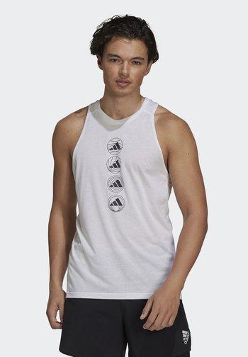 RUN LOGO TANK M - Sports shirt - white