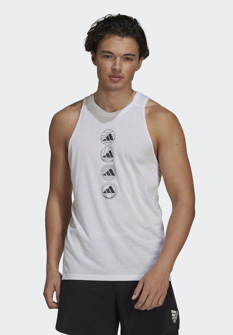 adidas Performance - RUN LOGO TANK M - Sports shirt - white