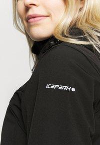 Icepeak - BRENHAM - Chaqueta softshell - black - 5