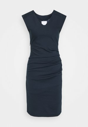 INDIA V NECK DRESS - Shift dress - midnight marine