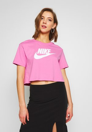 TEE - T-shirt print - magic flamingo/white