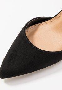Glamorous Wide Fit - BOB - Lodičky na vysokém podpatku - black - 2