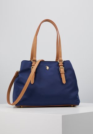HOUSTON - Sac à main - navy/beige