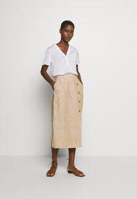 Masai - SACHA - Spódnica ołówkowa  - chipmunk - 1