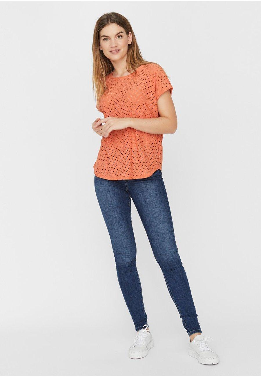 Damen BESTICKTES - T-Shirt print