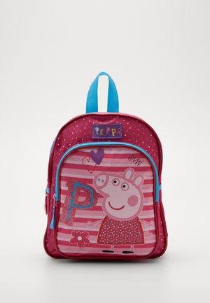 BACKPACK PENCIL CASE PEPPA PIG BE HAPPY SET - Mochila escolar - pink