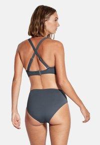 Seafolly - HIGH WAIST WRAP FRONT PANT - Bikini bottoms - granite - 2