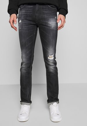 RONNIE DESTROYED - Slim fit jeans - washed black