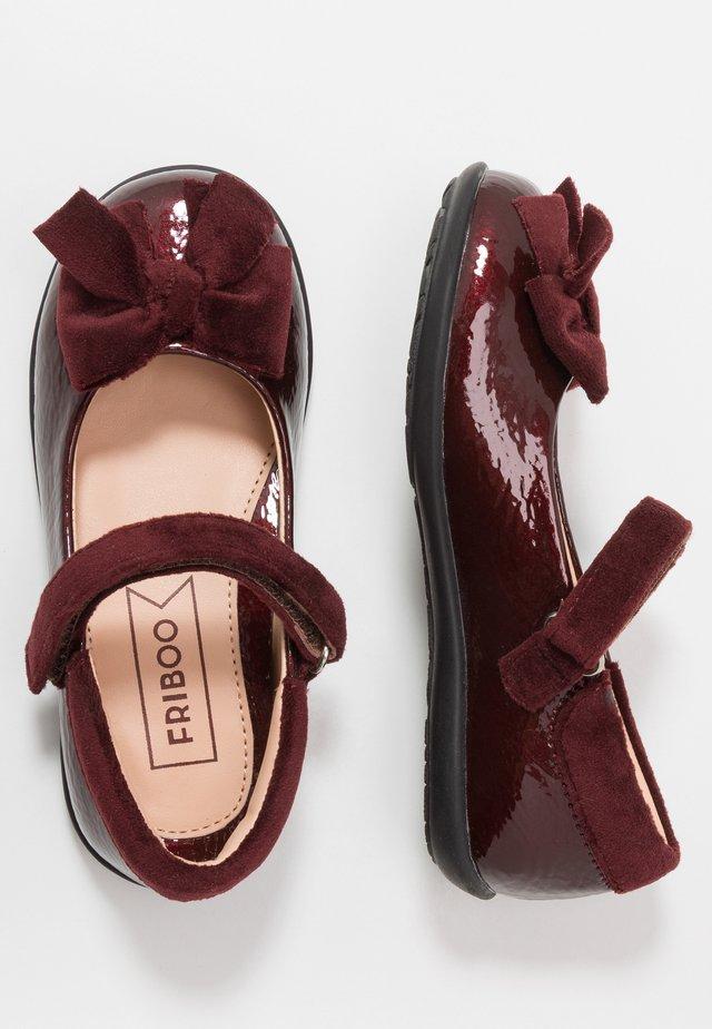Ankle strap ballet pumps - bordeaux