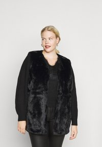 New Look Curves - GILET - Waistcoat - black - 0