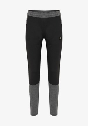 TAPERED - Tracksuit bottoms - black