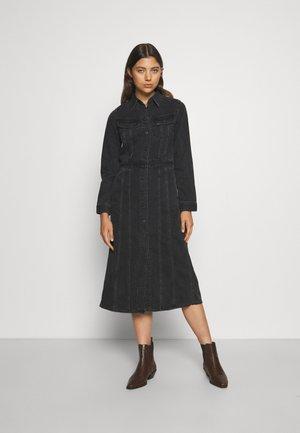 LONGSLEEVE DRESS - Denimové šaty - black duns