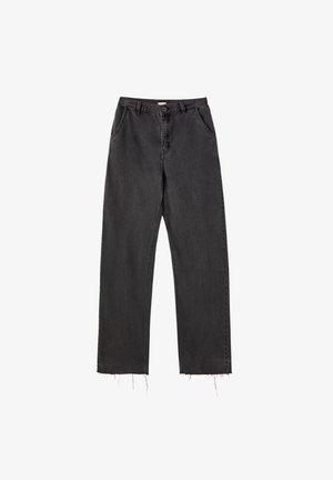 Široké džíny - dark grey