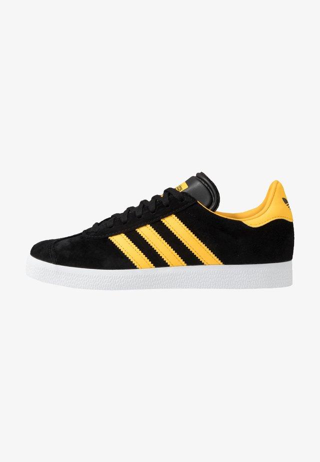 GAZELLE - Matalavartiset tennarit - core black/bold gold/footwear white