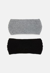 Even&Odd - 2 PACK - Ear warmers - black/grey - 1