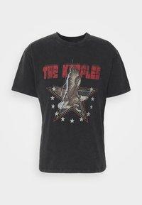 The Kooples - VINTAGE WASHED  - Print T-shirt - black - 4
