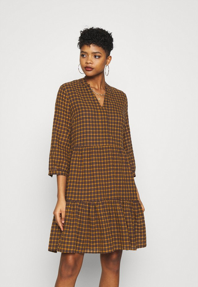 ONLFILIA SHORT CHECK DRESS  - Vestido informal - mango mojito/yellow/dark grey