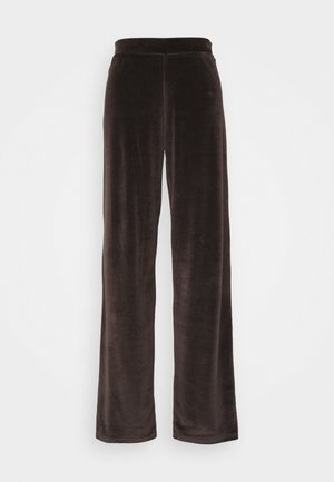 NMABBY LOOSE PANT - Tracksuit bottoms - chocolate brown